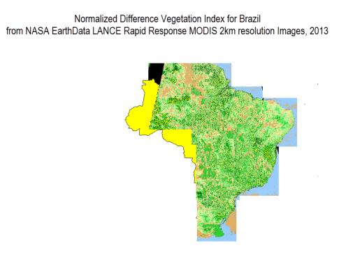 Satellite-Brazil-Rastering